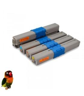 PACK 4 tóners compatibles Oki C310/C330/C510/C530/MC351/MC361/MC561