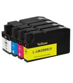 LEXMARK 200XL pack 4 tintas compatibles Lexmark 200 xl (bk-c-m-y) alta capacidad