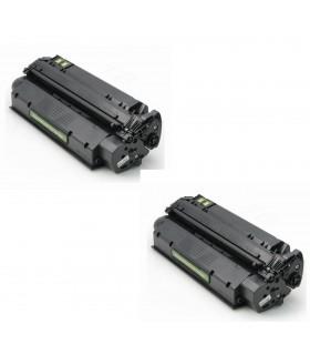 pack 2 Toner HP 13x Q2613X Nº13x Negro COMPATIBLE para HP LaserJet 1300