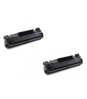 CF283A pack 2 Toner compatibles HP HP LASERJET PRO M125 / M126 / M127 / M128