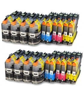 BROTHER LC-127 XL / LC-125 XL PACK 20 cartuchos de tinta compatibles