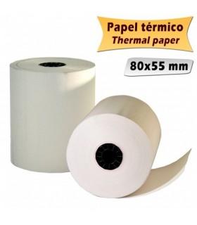 pack 8 Rollos de Papel Termico 80x55mm