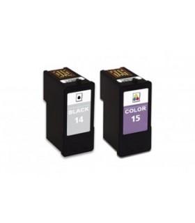 pack compatibles Lexmark 14 + Lexmark 15
