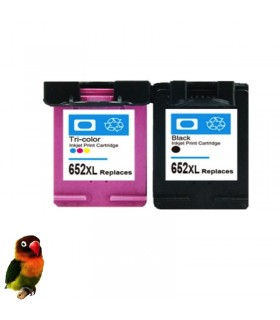 652XL PACK 2 tintas compatibles NEGRO-COLOR DeskJet Ink Advantage 1115 / 3635 / 3835