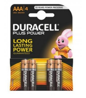 pack 4 Pilas alcalinas Duracell AAA (lr03)