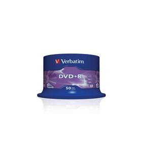 DVD+R 4.7 GB 16X VERBATIM AZO EN TARRINA 50 UDS