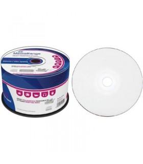 CD-R Mediarange 52x Inkjet FULLFACE Printable Tarrina 50 uds