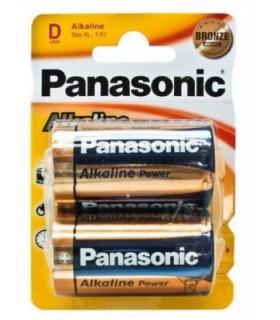 Panasonic pack 2 pilas Alcalinas LR20 1.5V