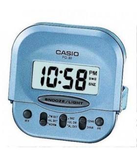 Reloj despertador digital casio PQ-30-2EF MINI Color celeste