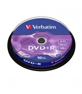 Verbatim dvd+r 16x tarrina 10 (4.7 gb)