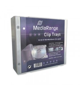Caja CD Clip Tray MediaRange Blanco pack 10 uds