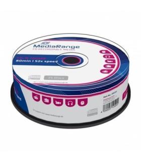 CD-R 52x 700MB MediaRange Tarrina 25 uds
