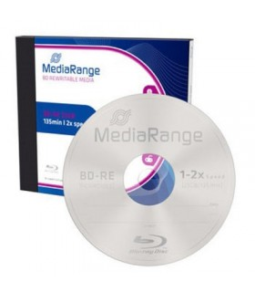 Blu-ray BD-RE SL 25GB 2x MediaRange (Regrabable) Caja Jewel 1 uds