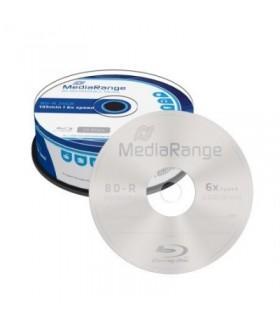 Blu-ray BD-R SL 25GB 6x MediaRange Tarrina 25 uds