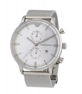 Emporio Armani Hombre Reloj Cronógrafo Plateado