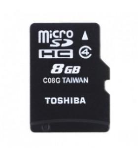 Tarjeta MicroSDHC 8GB Clase 4 Toshiba SD-C08GJ(6A (Adapt) SD-C08GJ(6A