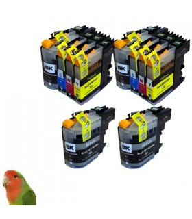 BROTHER LC123/LC121 DCP-J4110 MFC-J4510 MFC-J650 PACK 10 TINTAS compatibles