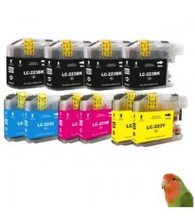 10 Tintas para LC223 MFC-J4420DW J4620DW J680DW J880 DCP-J4120DW J562DW