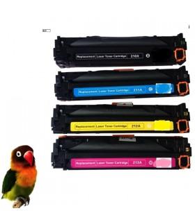 CF210X/1/2/3A PACK 4 toner compatibles HP Laserjet COLOR Pro 200 M251 M276