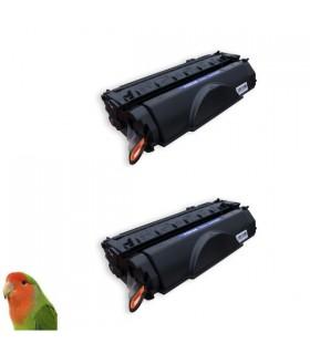 pack 2 toner Premium compatible alta calidad negro hp 53a (q7553a)