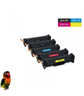 CE410X/1/2/3A HP 305X/305A Pack 5 toner compatibles Laserjet M351 M451 M475