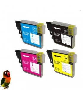 Pack 4 tintas compatibles Brother LC985 DCP-J125 DCP-J140W DCP-J315W DCP-J515
