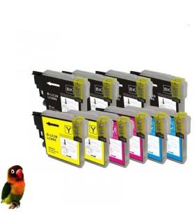 Pack 10 tintas compatibles LC985 DCP-J125 DCP-J140W DCP-J315W DCP-J515