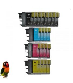 Pack 20 tintas compatibles LC985 DCP-J125 DCP-J140W DCP-J315W DCP-J515