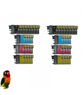 Pack 40 tintas compatibles LC985 DCP-J125 DCP-J140W DCP-J315W DCP-J515