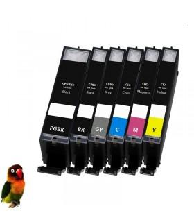 6 tintas para Canon PGI550/CLI551XL MG6350 MG7150 MG7550 IP8750 (con GRIS)