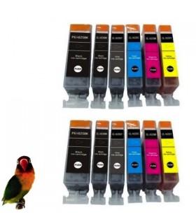 12 tintas para Canon PGI550/CLI551XL MG6350 MG7150 MG7550 IP8750 (con GRIS)