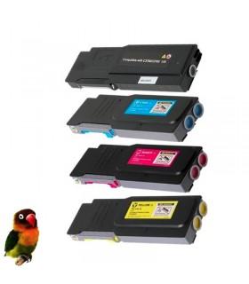 DELL C3760 / C3765 pack 4 toners compatibles