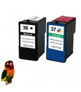 pack cartuchos compatibles (negro/color) Lexmark 36xl + Lexmark 37xl