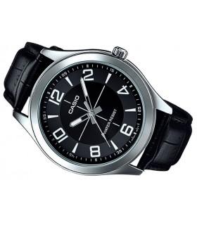 Reloj hombre Casio mtp-vx01l-1b correa piel negra esfera negra caja grande