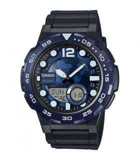 reloj hombre Casio AEQ-100W-2A Hora Mundial - Correa resina