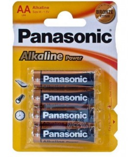 PANASONIC AA LR6 BLISTER 4 PILAS ALCALINAS