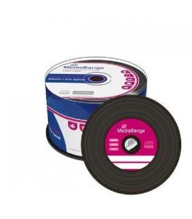 CD-R 52x 700MB MediaRange Vinyl Negro Tarrina 50 uds